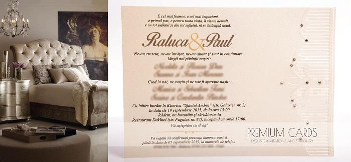 Invitatie de nunta Box Of Glam - Gold