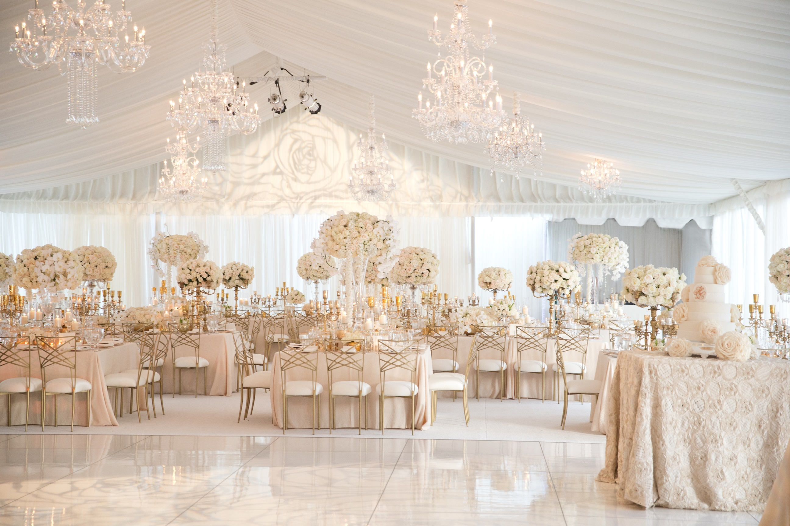 Rose Gold Wedding Ideas For Ceremony Reception Décor: Totul In Alb