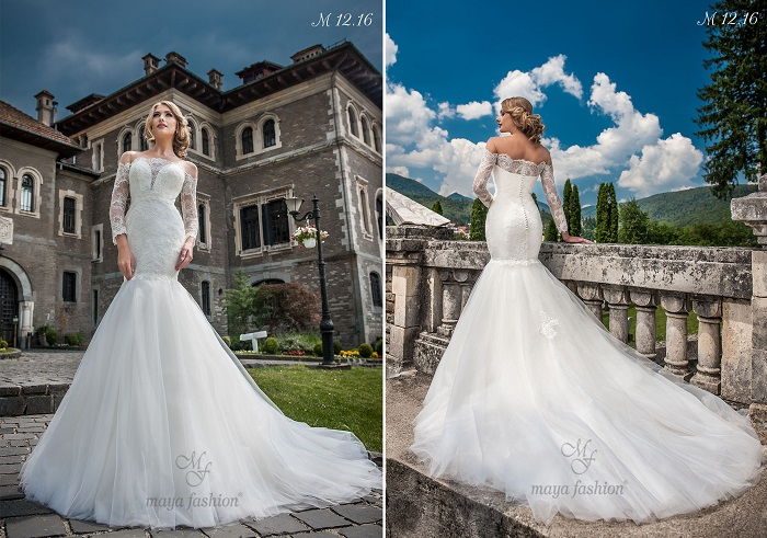 Eleganta la superlativ. Asa ar putea fi descrisa pe scurt aceasta rochie de mireasa Maya Fashion M12.16.