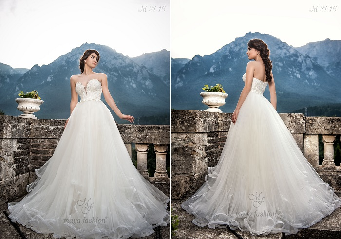 O rochie de mireasa stil printesa care iti va scoate in evidenta nu numai feminitatea, dar si senzualitatea. Ce zici de modelul M21.16?