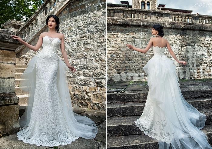 Modelul de rochie de mireasa M05.16 iti va conferi un aer senzual si misterios.