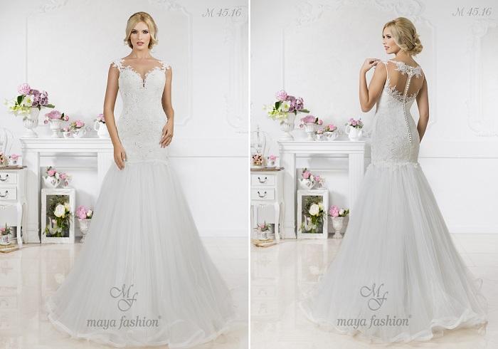 M45.16 - O rochie de mireasa stil sirena ce iti va pune in valoare silueta perfecta.