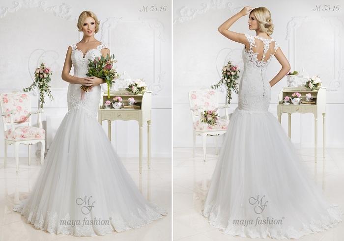 M53.16 - Aceasta rochie de mireasa stil sirena iti va evidentia senzualitatea.