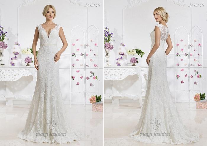M63.16 - O rochie de o eleganta si un rafinament aparte, date de detaliile fine din dantela.