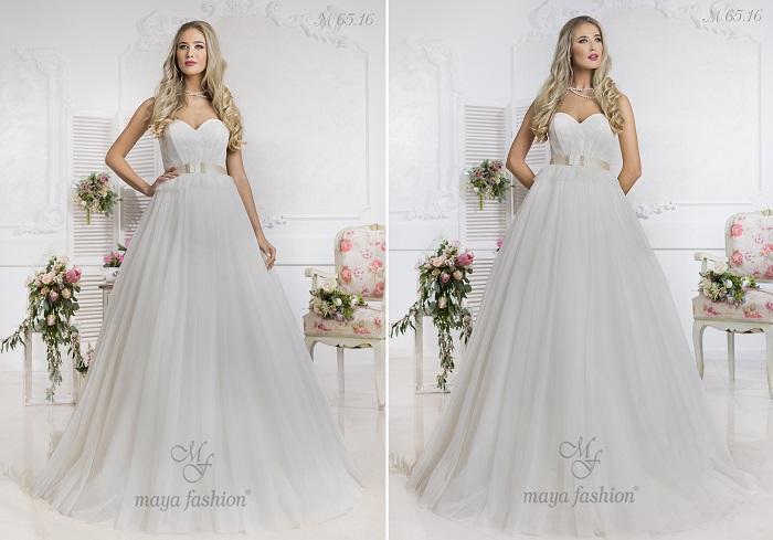 M65.16 - O rochie romantica, potrivita pentru o nunta clasica.