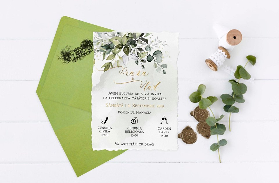 invitatii inspiratie botanica