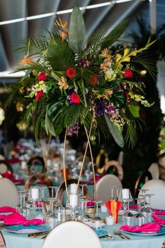 nunta cu tematică tropicala la conac