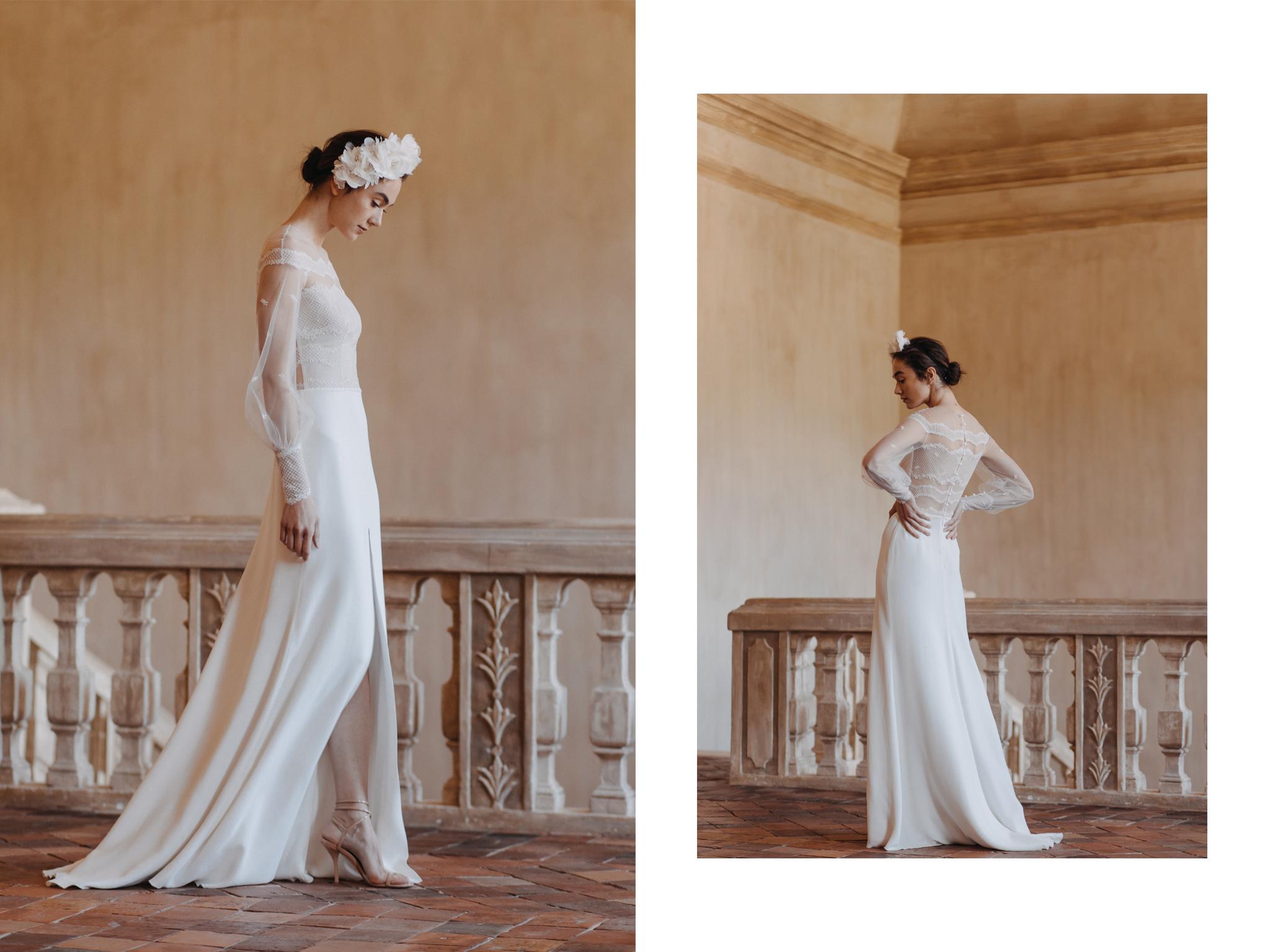 rochie de mireasa silueta tip clepsidra divine atelier