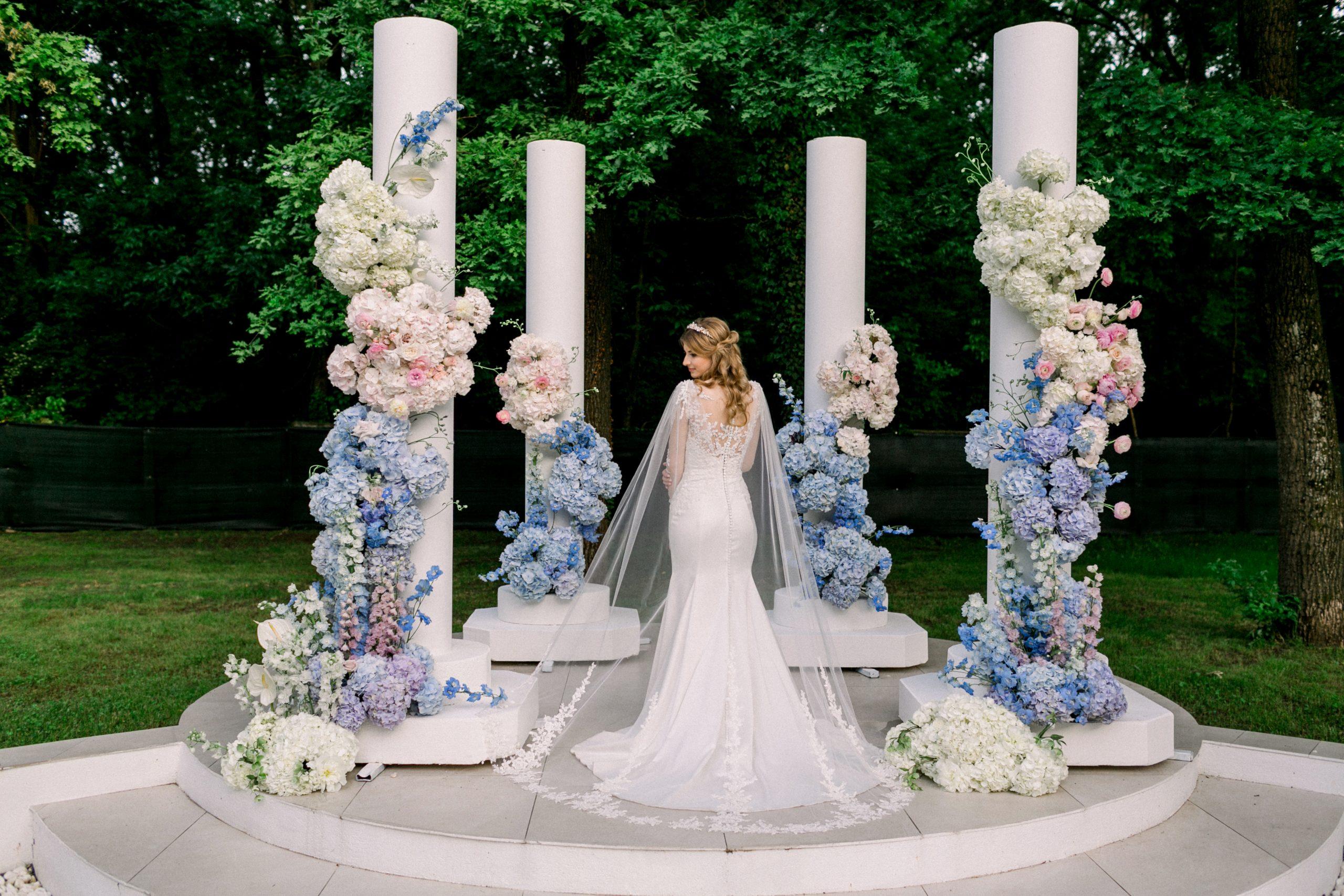 photocorner floral albastru
