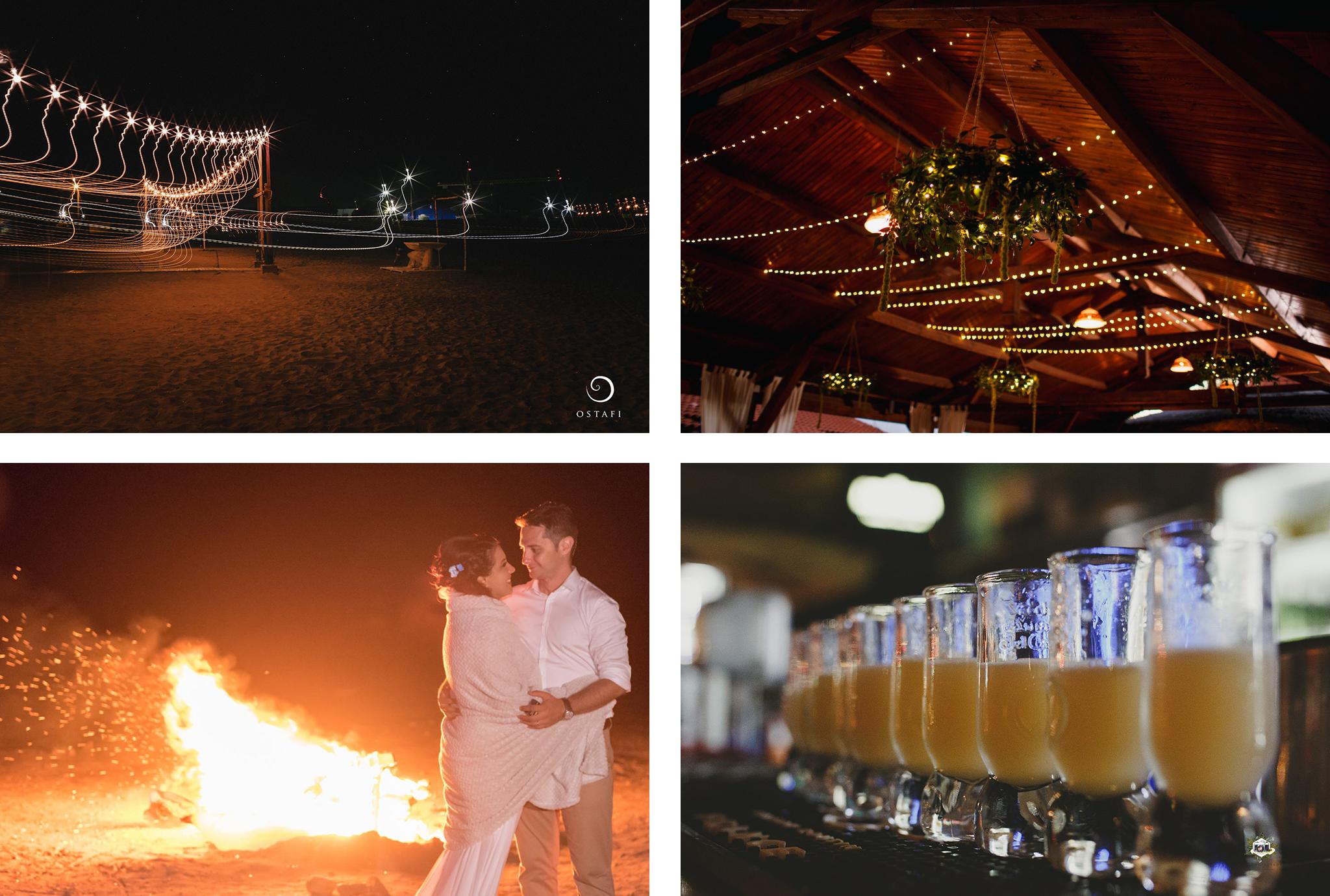 foc de tabara nunta la mare
