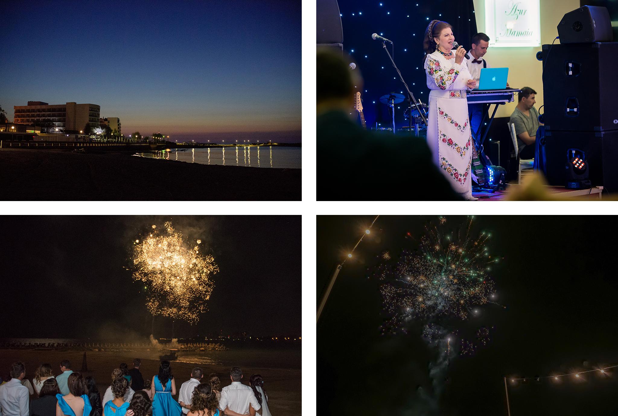 artificii nunta la mare