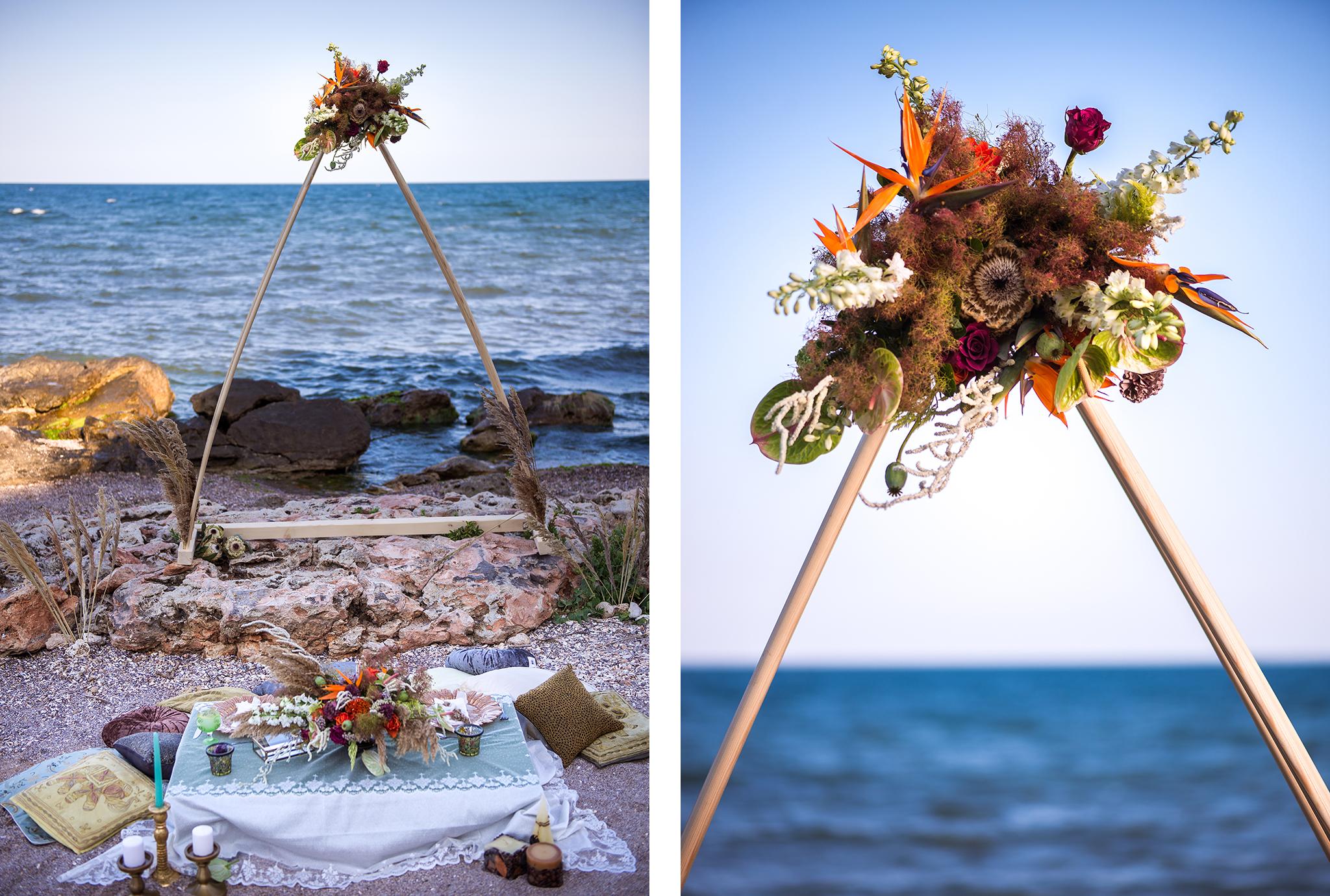 arcada nunta la mare in romania