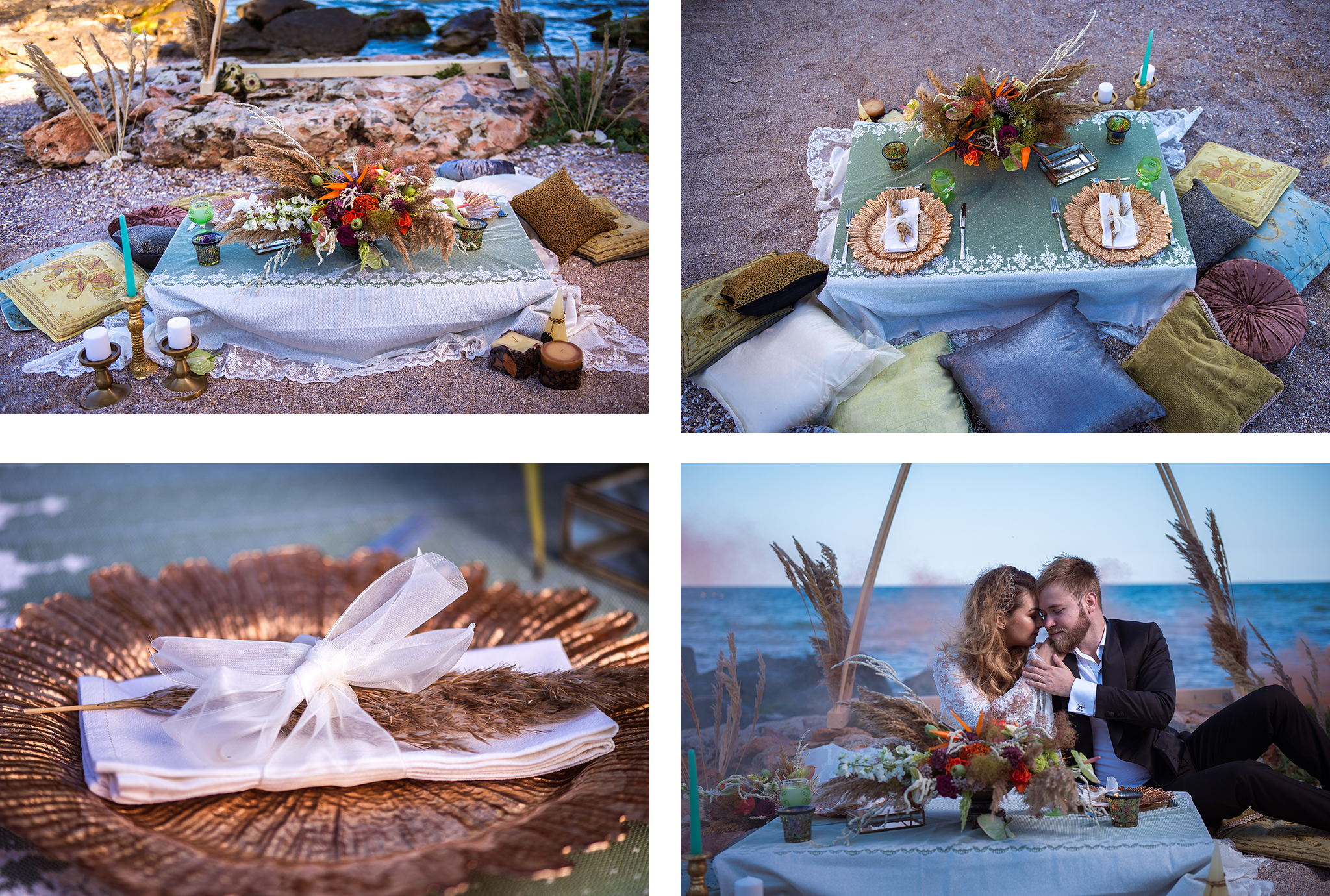 styling nunta pe plaja in romania