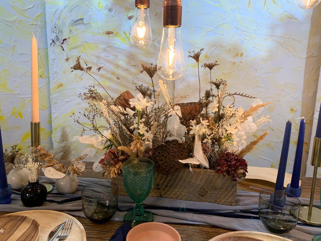 aranjament flori uscate de inchiriat nunta