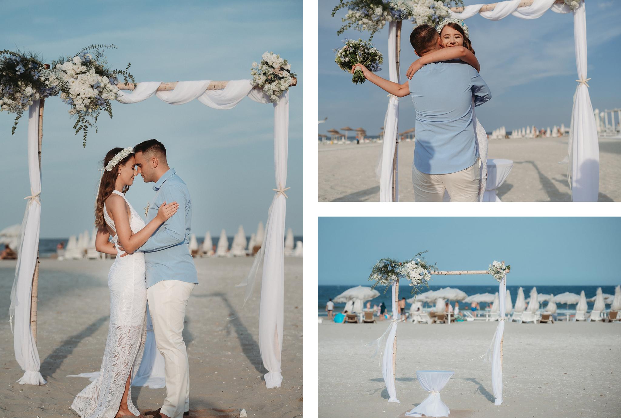 decor nunta pe plaja in romania